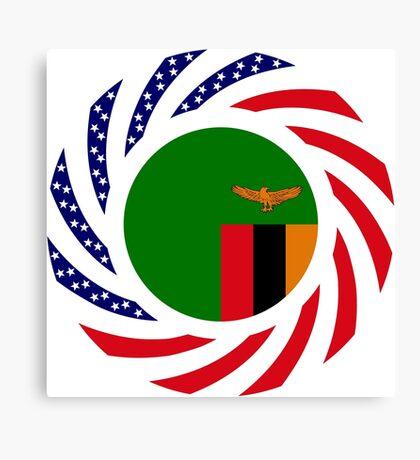Zambian American Multinational Patriot Flag Series Canvas Print