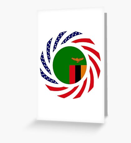 Zambian American Multinational Patriot Flag Series Greeting Card