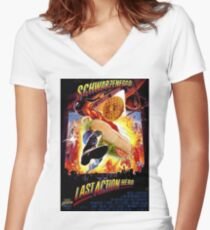 Last Waffle Hero Women's Fitted V-Neck T-Shirt