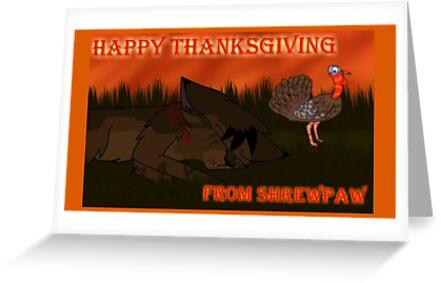 Dark Warriors Thanksgiving card - Shrewpaw by Dawnmist