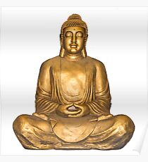 A Golden Buddha Poster