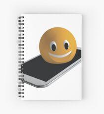 Handy mit Emoticon Spiralblock