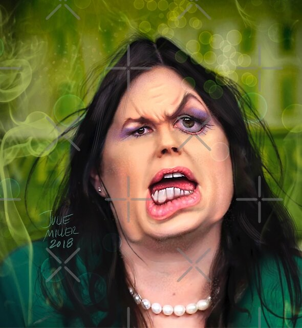 The Smell of Lies—Sarah Huckabee Sanders by haggisvitae