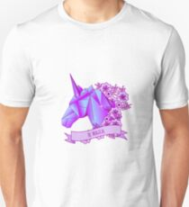 Be magical. Unicron head with flowers Unisex T-Shirt