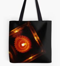 Candle in Red Tote Bag