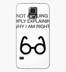 Nerdy Offensive Humor Sarcasm Glasses Case/Skin for Samsung Galaxy