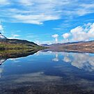 Loch Hope Reflections by ScotLandscapes