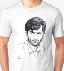 David Tennant as Alec Hardy Etching T-Shirt