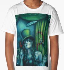 Judgement - Juggling Circus Woman in Top Hat Long T-Shirt