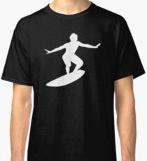 Surfer surfboard sea water wave sport Classic T-Shirt