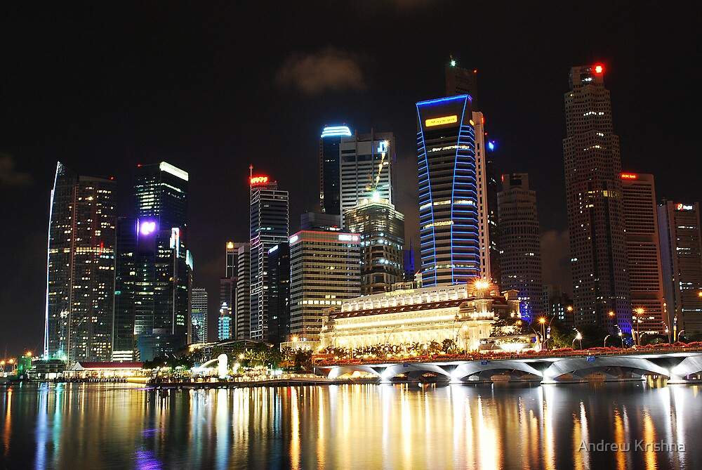 Singapore skyline by Andrew Krishna