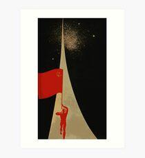 den ganzen Weg bis zu den Sternen - sowjetische Propaganda Kunstdruck