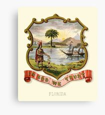 Historical Florida Coat of Arms  Canvas Print