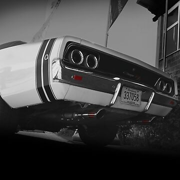 Dodge Charger R/T, Black and White by hottehue