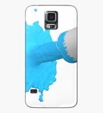 blauer Farbklecks Hülle & Klebefolie für Samsung Galaxy