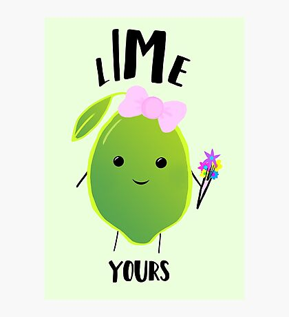 LIME yours Photographic Print
