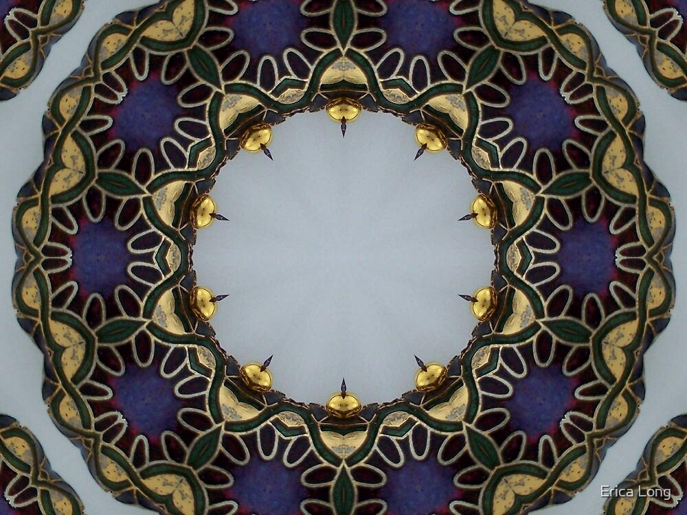 Enamelled Purple Bead Kaleidoscope by Erica Long