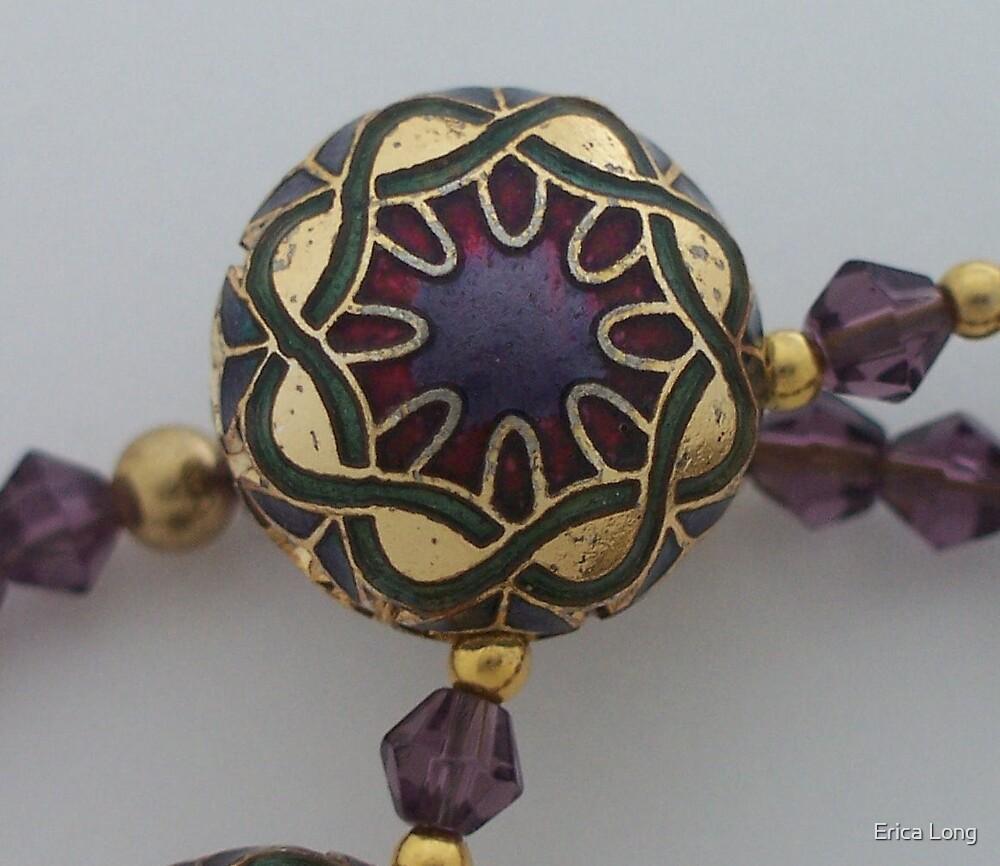 Enamelled Purple Bead by Erica Long