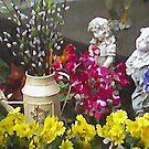 Garden by My Patio painted by Linda Miller Gesualdo