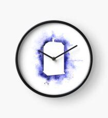 TARDIS - white Clock