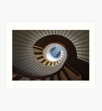 Old Point Loma Lighthouse Staircase Art Print
