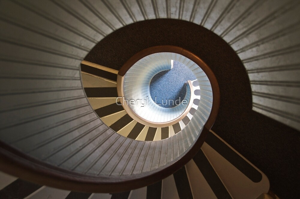 Old Point Loma Lighthouse Staircase by Cheryl  Lunde