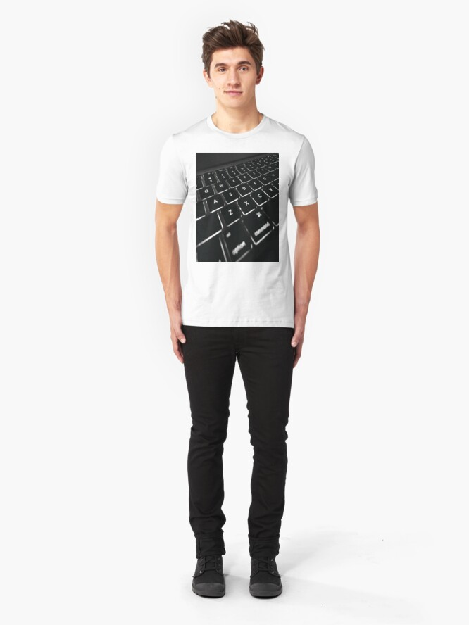 Alternate view of COMPUTER DISPLAY Pop Art Slim Fit T-Shirt