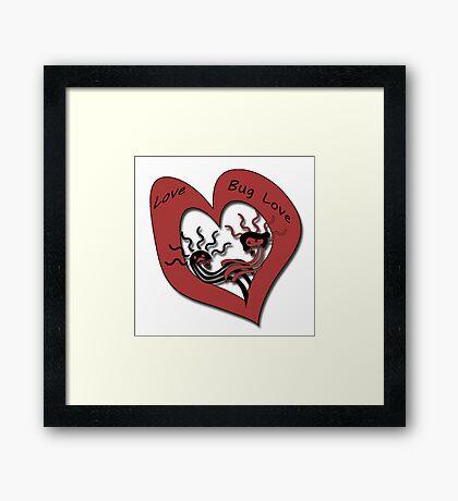 Love Bug Love Framed Print
