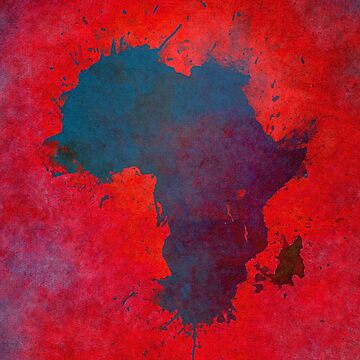 Africa map 3D red blue #map #africa by JBJart