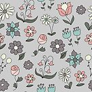 Simple Hand Drawn Floral Design by Pamela Maxwell