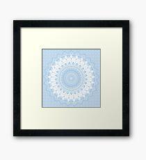 Baby Blue Boho Mandala Framed Print
