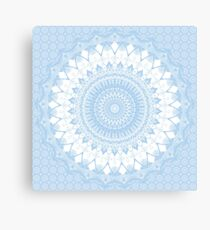 Baby Blue Boho Mandala Canvas Print