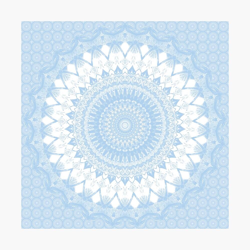 Baby Blue Boho Mandala Photographic Print