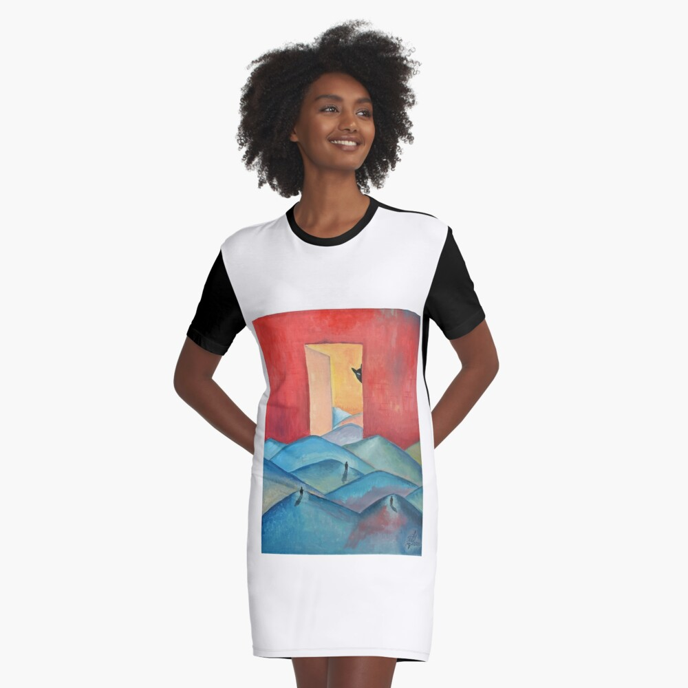 "Oil Painting - ""Stalker"" Poster 2000 Graphic T-Shirt Dress Front"