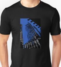 New York Empire State Building Black White and Blue  Unisex T-Shirt