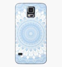 Baby Blau Boho Mandala Hülle & Klebefolie für Samsung Galaxy