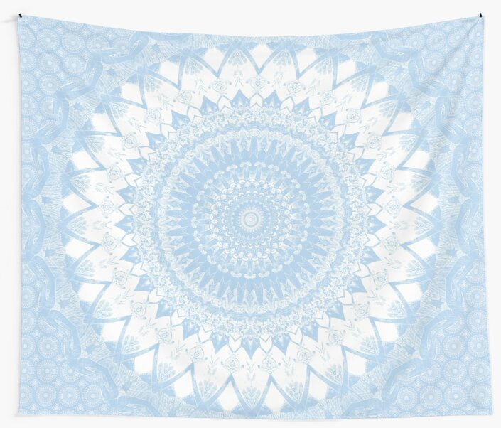 Baby Blue Boho Mandala by Kelly Dietrich