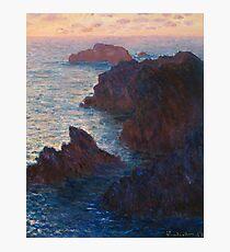 Lámina fotográfica Rocas en Belle-lle, Port-Domois por Claude Monet