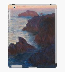 Rocks at Belle-lle, Port-Domois by Claude Monet iPad Case/Skin