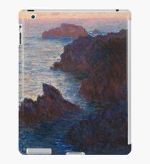 Rocks at Belle-lle, Port-Domois by Claude Monet iPad Case/Skin