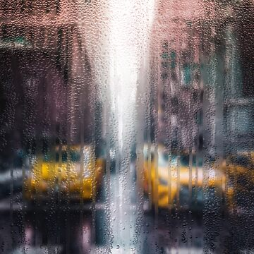 Rainy days in New York - The Yellow Taxicabs by Captain7