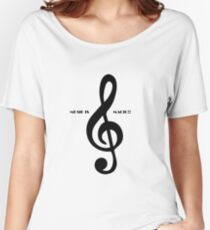 Treble clef music is magic Women's Relaxed Fit T-Shirt
