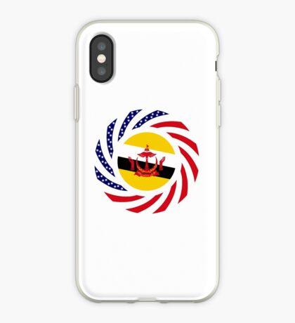 Bruneian American Multinational Patriot Flag Series iPhone Case