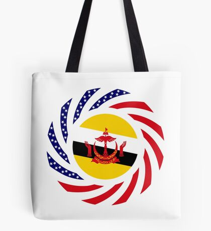 Bruneian American Multinational Patriot Flag Series Tote Bag