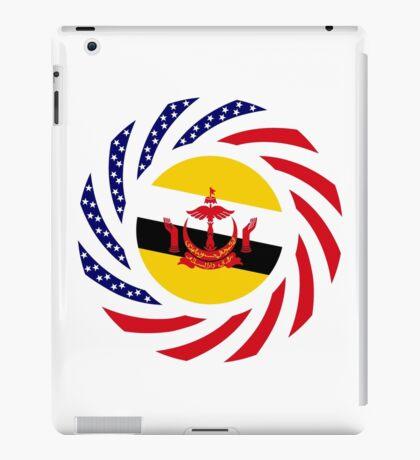 Bruneian American Multinational Patriot Flag Series iPad Case/Skin