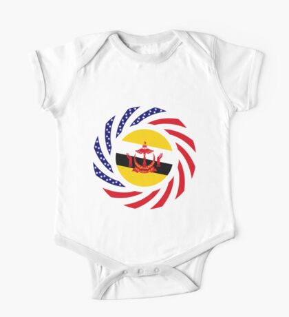 Bruneian American Multinational Patriot Flag Series Kids Clothes