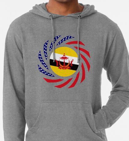 Bruneian American Multinational Patriot Flag Series Lightweight Hoodie