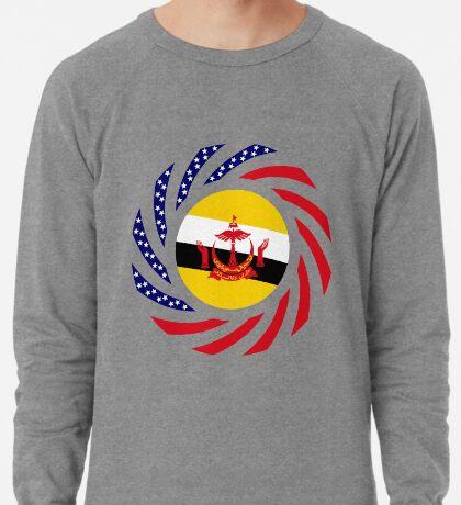 Bruneian American Multinational Patriot Flag Series Lightweight Sweatshirt