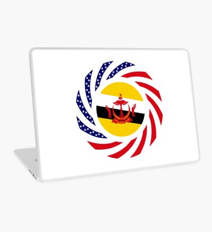 Bruneian American Multinational Patriot Flag Series Laptop Skin