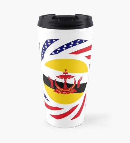 Bruneian American Multinational Patriot Flag Series Travel Mug
